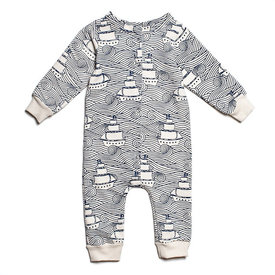 Winter Water Factory Winter Water Factory French Terry Jumpsuit - High Seas Navy