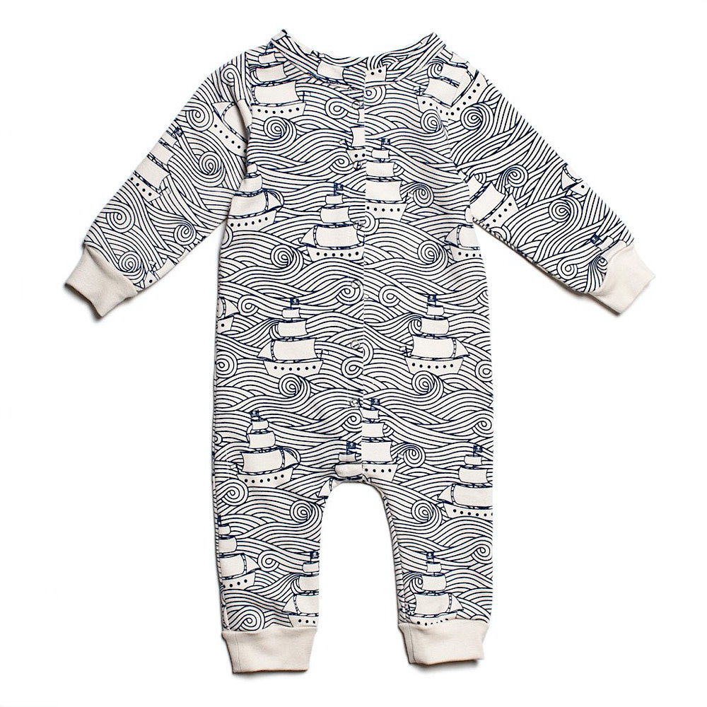 Winter Water Factory French Terry Jumpsuit - High Seas Navy