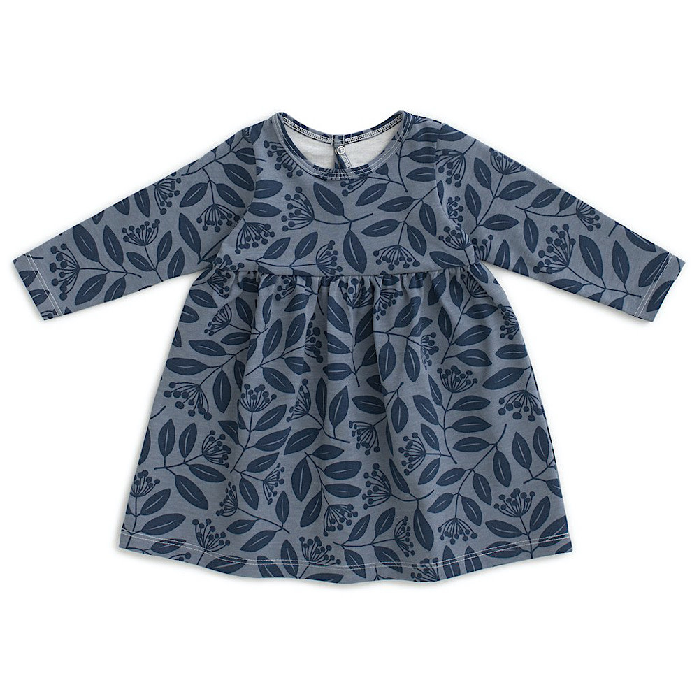 Winter Water Factory Geneva Baby Dress - Elderberry Night Sky & Slate Blue