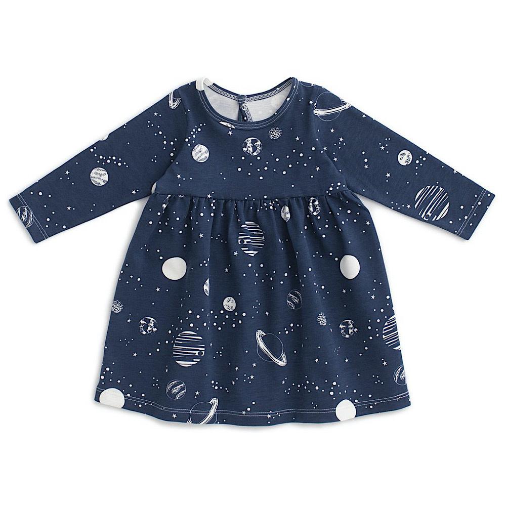 Winter Water Factory Geneva Baby Dress - Planets Night Sky