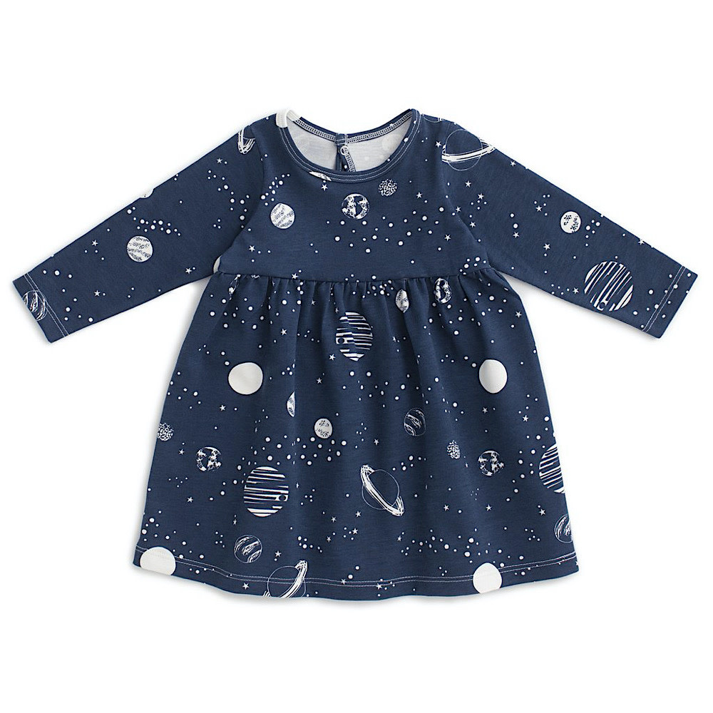 Winter Water Factory Winter Water Factory Geneva Baby Dress - Planets Night Sky