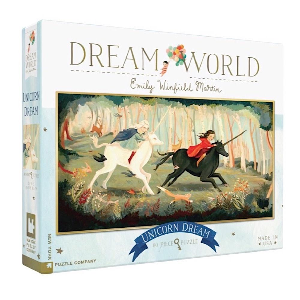 New York Puzzle Co - Unicorn Dream - 80 Piece Jigsaw Puzzle