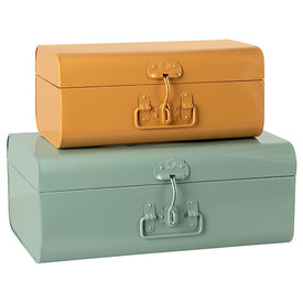 Maileg Maileg Storage Suitcases - 2 Piece Set - Small Yellow & Large Blue