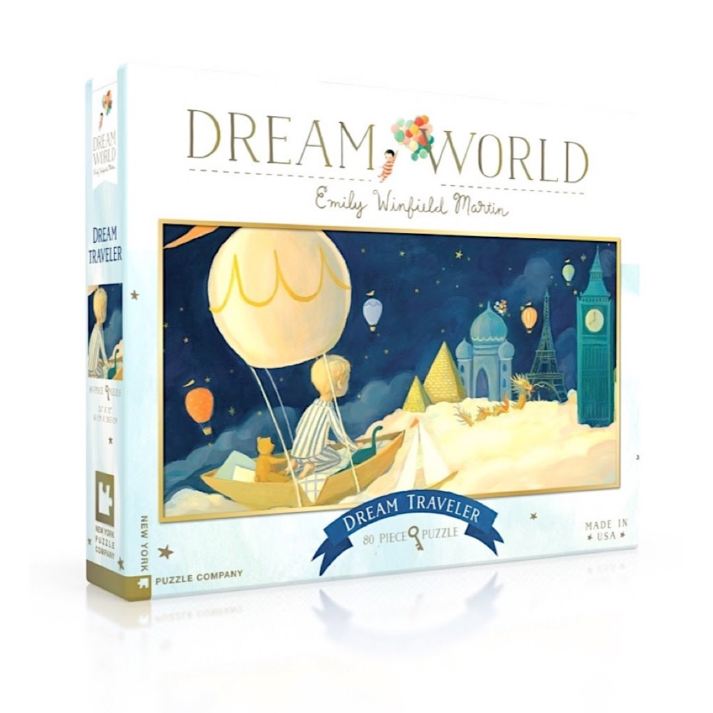 New York Puzzle Co. New York Puzzle Co - Dream Traveler - 80 Piece Jigsaw Puzzle