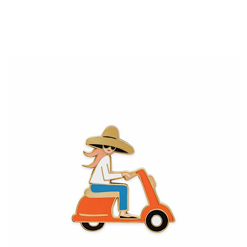 Rifle Paper Co. Rifle Paper Co. Enamel Pin - Scooter Girl