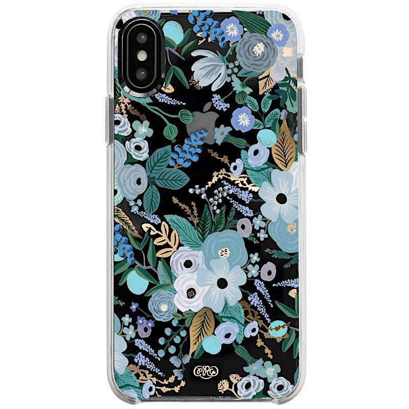 Rifle Paper Co. Rifle Paper Co. iPhone XS/X Case - Clear Garden Party Blue