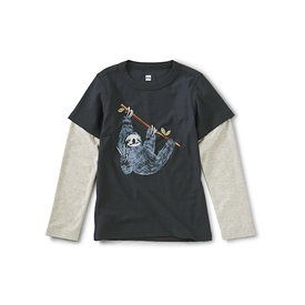 Tea Collection Tea Collection Hanging Out Layered Graphic Tee - Indigo