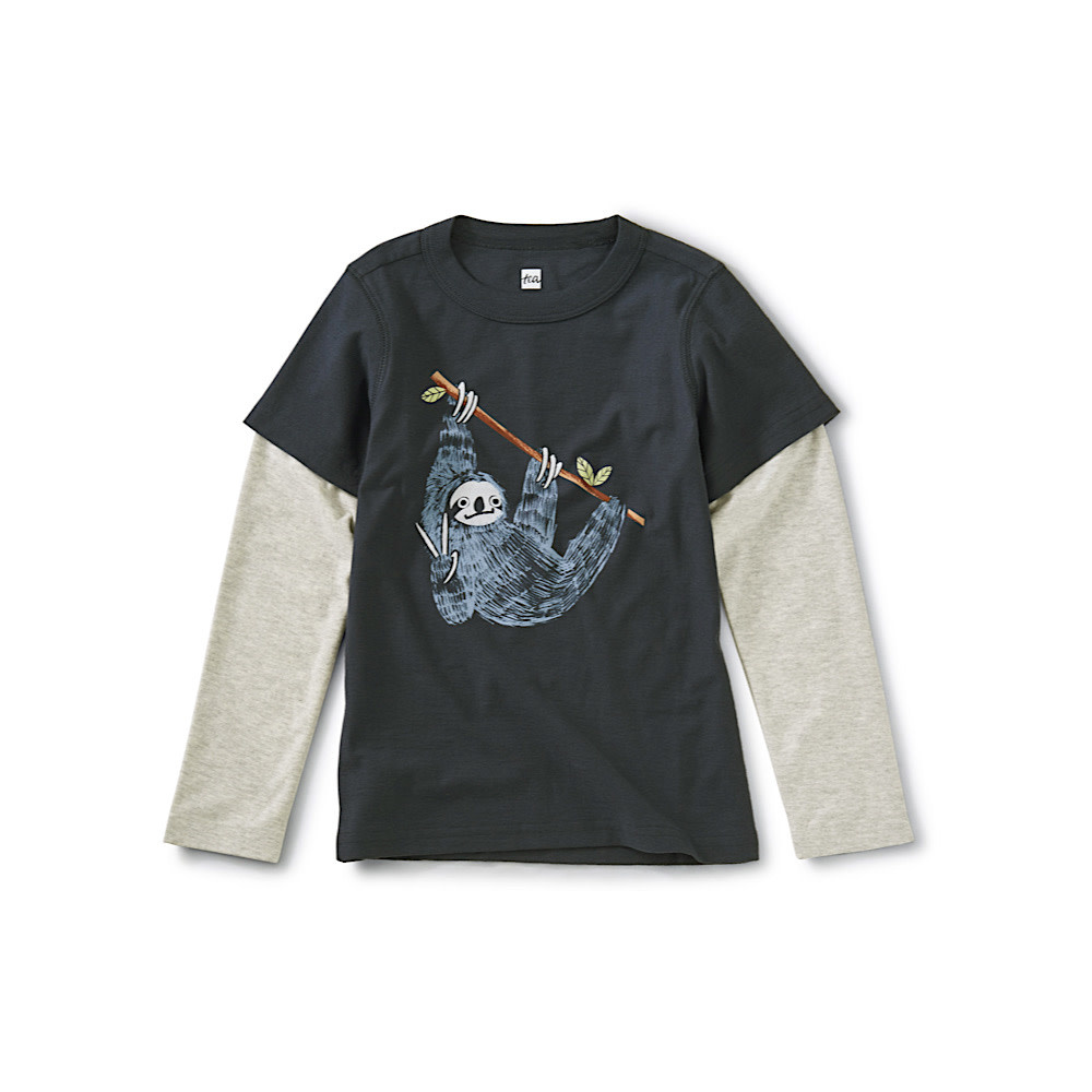 Tea Collection Hanging Out Layered Graphic Tee - Indigo