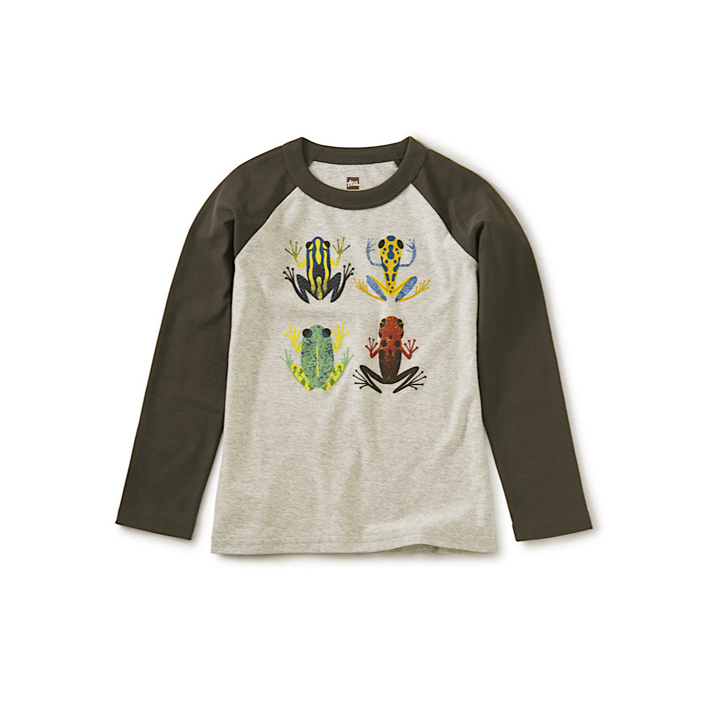 Tea Collection Tea Collection Cloud Forest Frogs Raglan Graphic Tee - Med Heather