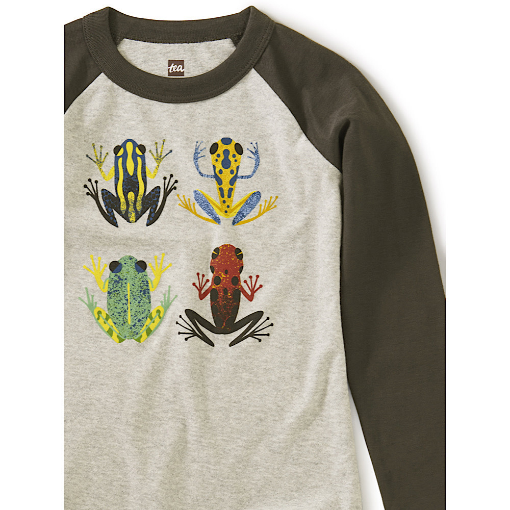 Tea Collection Cloud Forest Frogs Raglan Graphic Tee - Med Heather