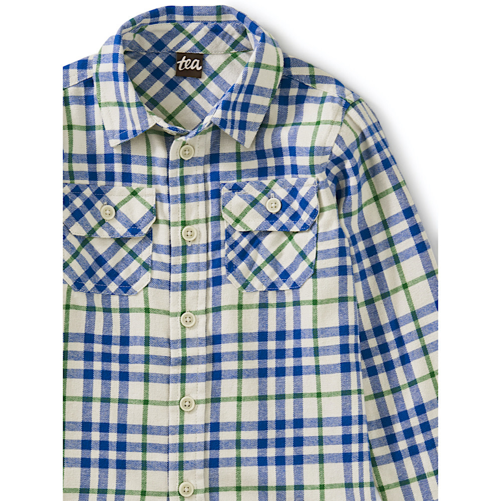 Tea Collection Flannel Button Up - Alpamayo
