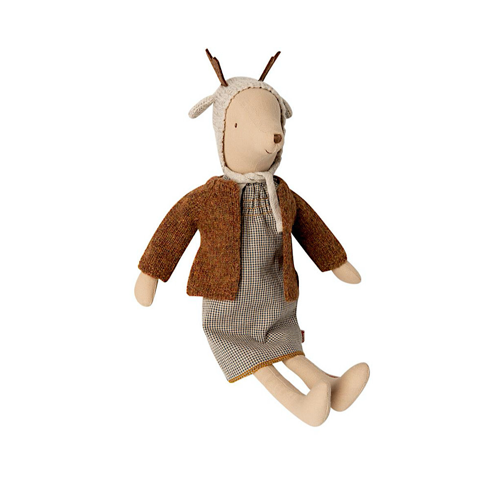 Maileg Mouse - Girl - Medium - Reindeer Hat