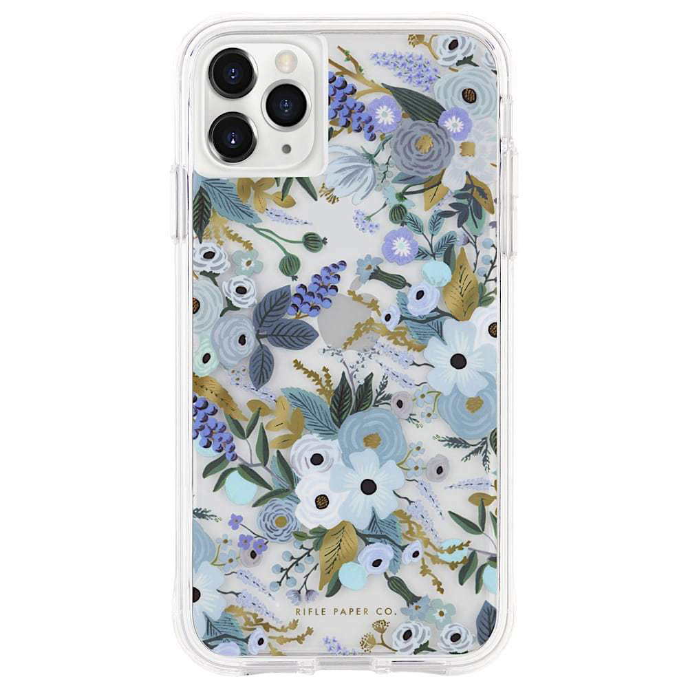 Rifle Paper Co. Rifle Paper Co. iPhone 11 Pro Case - Clear Garden Party Blue