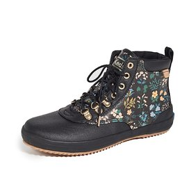 KEDS KEDS Adult + Rifle Paper Co. - Scout Boot - Wildflower Splash - Black Multi