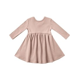 Quincy Mae Quincy Mae Longsleeve Ribbed Dress - Petal