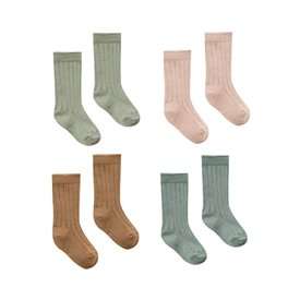 Quincy Mae Quincy Mae Baby Socks 4 Pack - Assorted