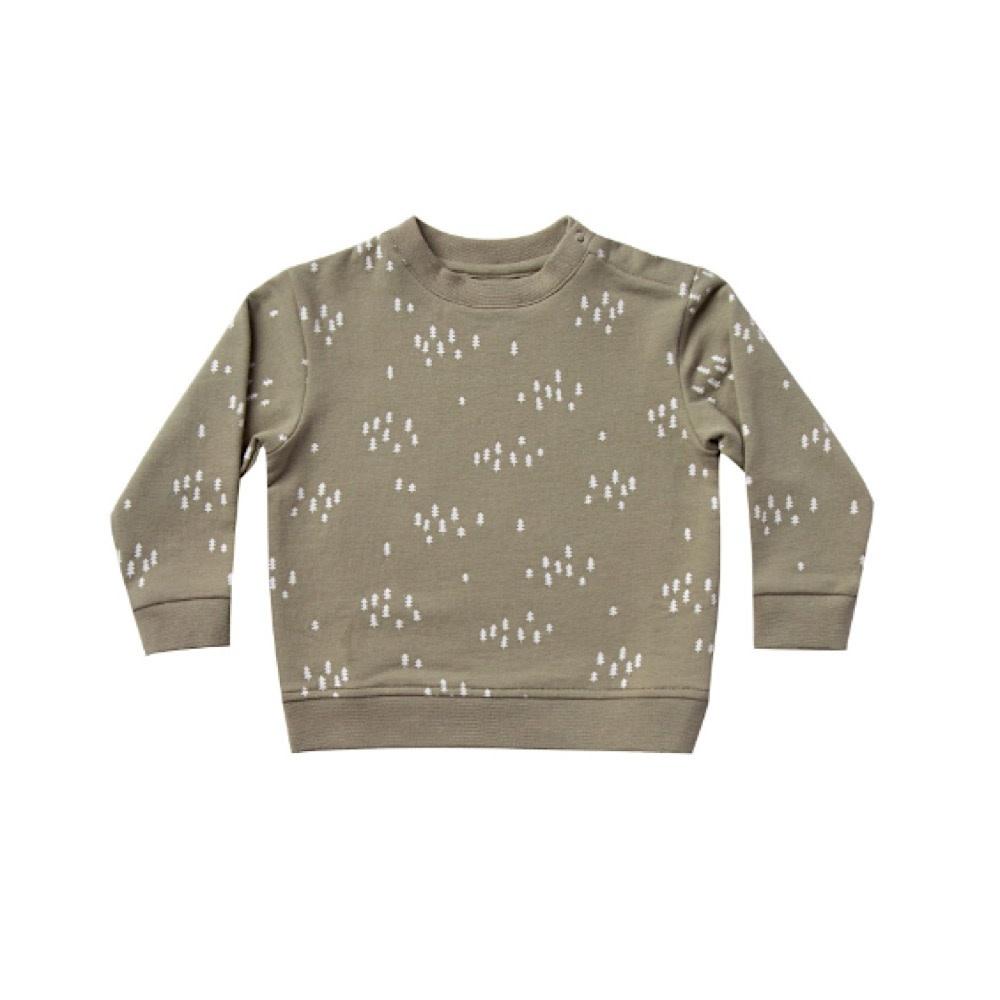 Quincy Mae Fleece Basic Sweatshirt - Olive