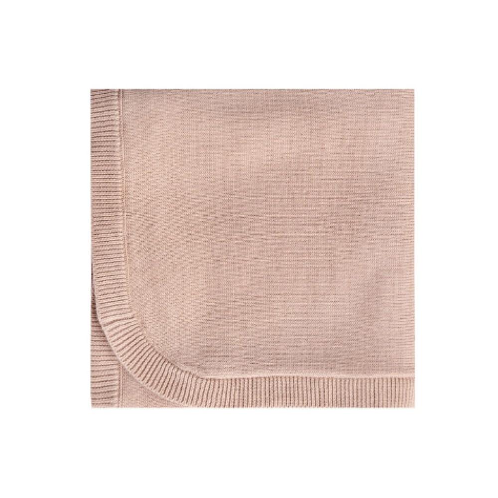 Quincy Mae Knit Baby Blanket 33x33 - Petal