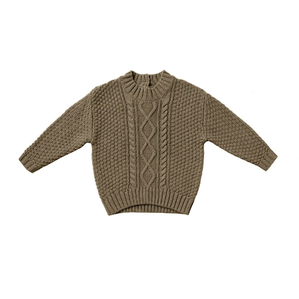 Quincy Mae Quincy Mae Cable Knit Sweater - Olive