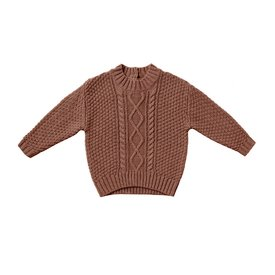 Quincy Mae Quincy Mae Cable Knit Sweater - Clay