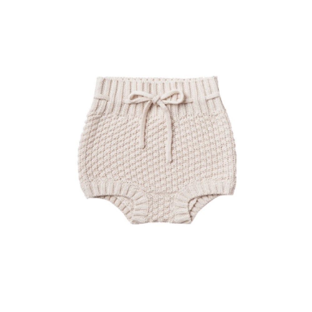 Quincy Mae Knit Tie Bloomer - Pebble