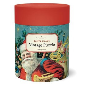Cavallini Papers & Co., Inc. Cavallini Jigsaw Puzzle - Santa Clause - 500 Pieces