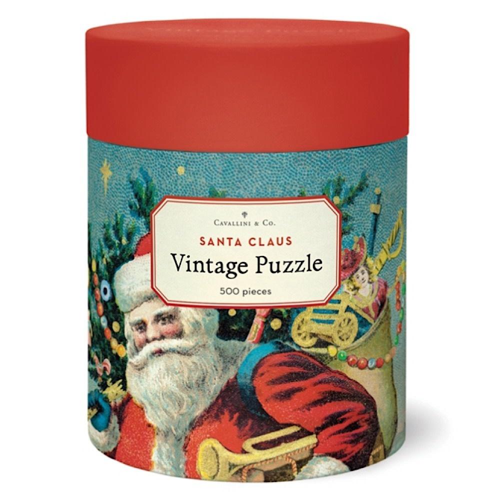 Cavallini Jigsaw Puzzle - Santa Clause - 500 Pieces