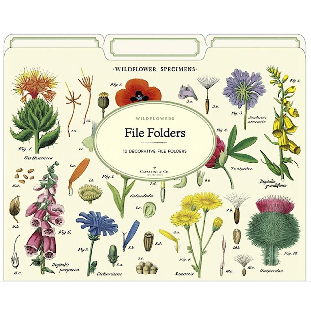 Cavallini File Folders - Wildflowers