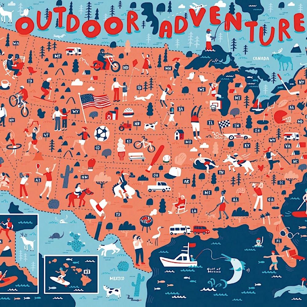 True South Puzzle Outdoor Adventures - 1000 Pieces
