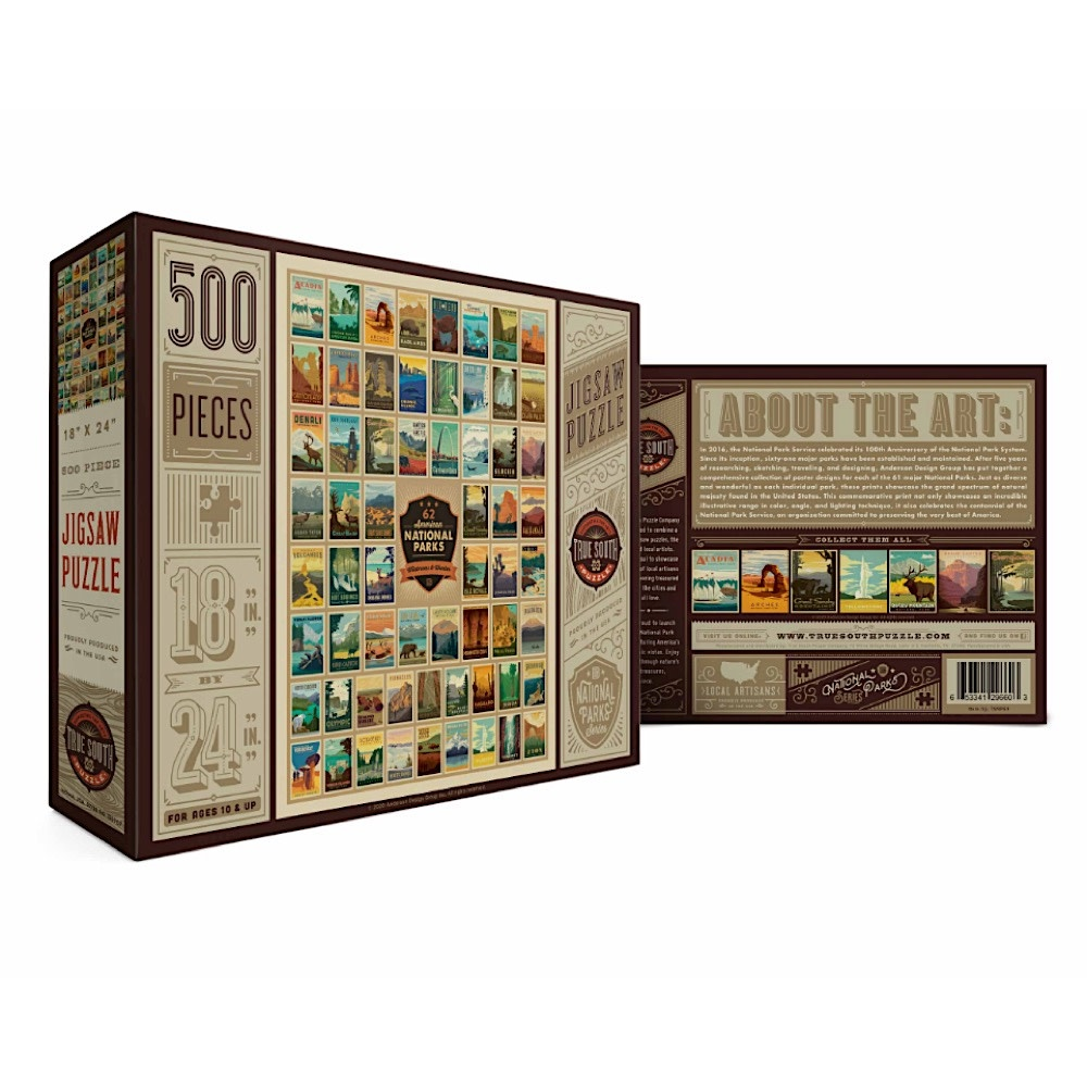True South Puzzle True South Puzzle National Parks - Wilderness & Wonder - 500 Pieces