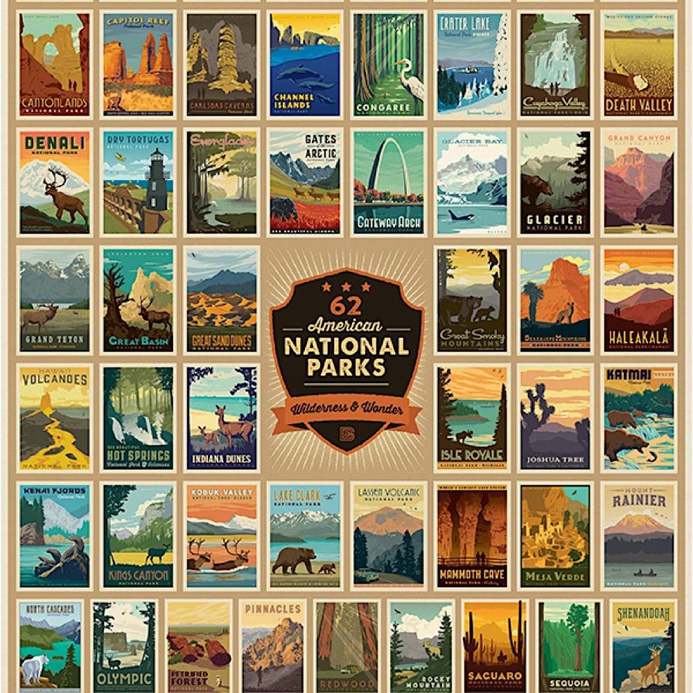 True South Puzzle National Parks - Wilderness & Wonder - 500 Pieces