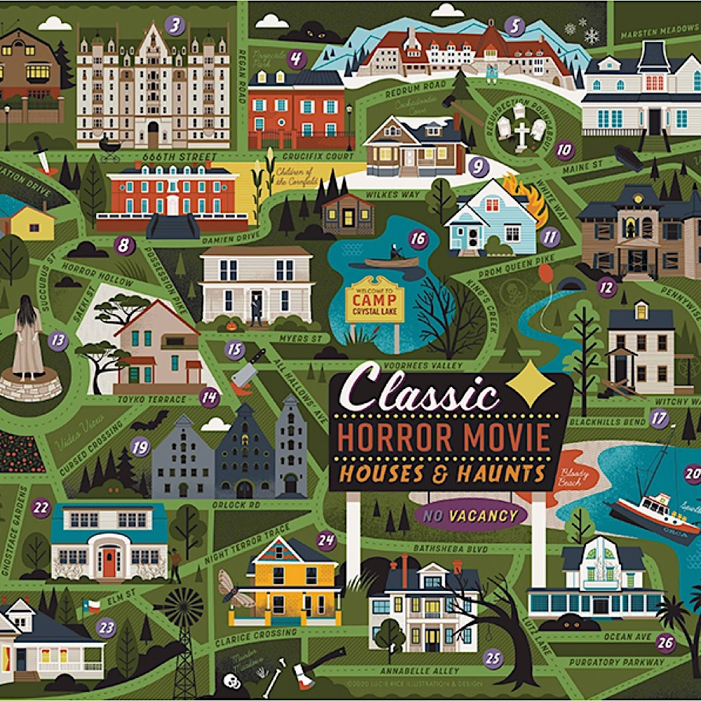 True South Puzzle Classic Horror Movies - 500 Pieces