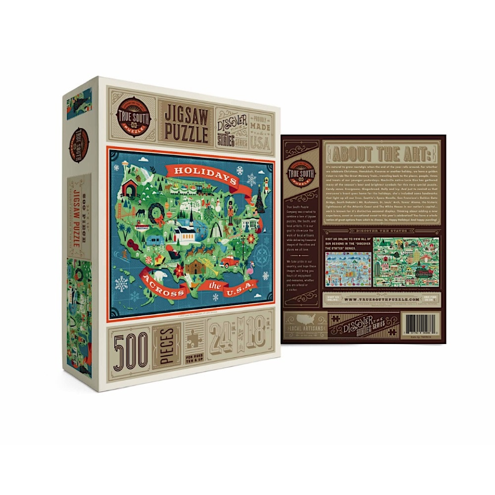 True South Puzzle True South Puzzle Holidays Across America - 500 Pieces