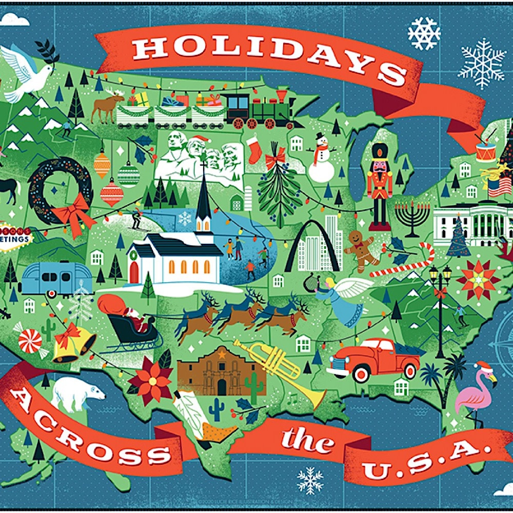 True South Puzzle Holidays Across America - 500 Pieces
