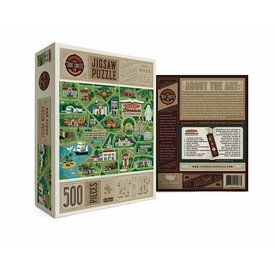 True South Puzzle True South Puzzle Classic Literary Locations Map - 500 Pieces