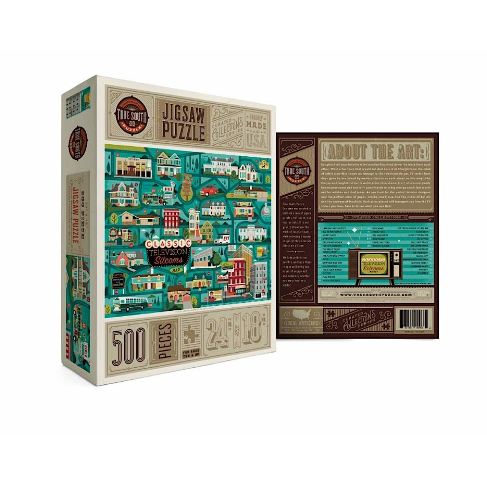 True South Puzzle True South Puzzle Classic Sitcoms Map - 500 Pieces