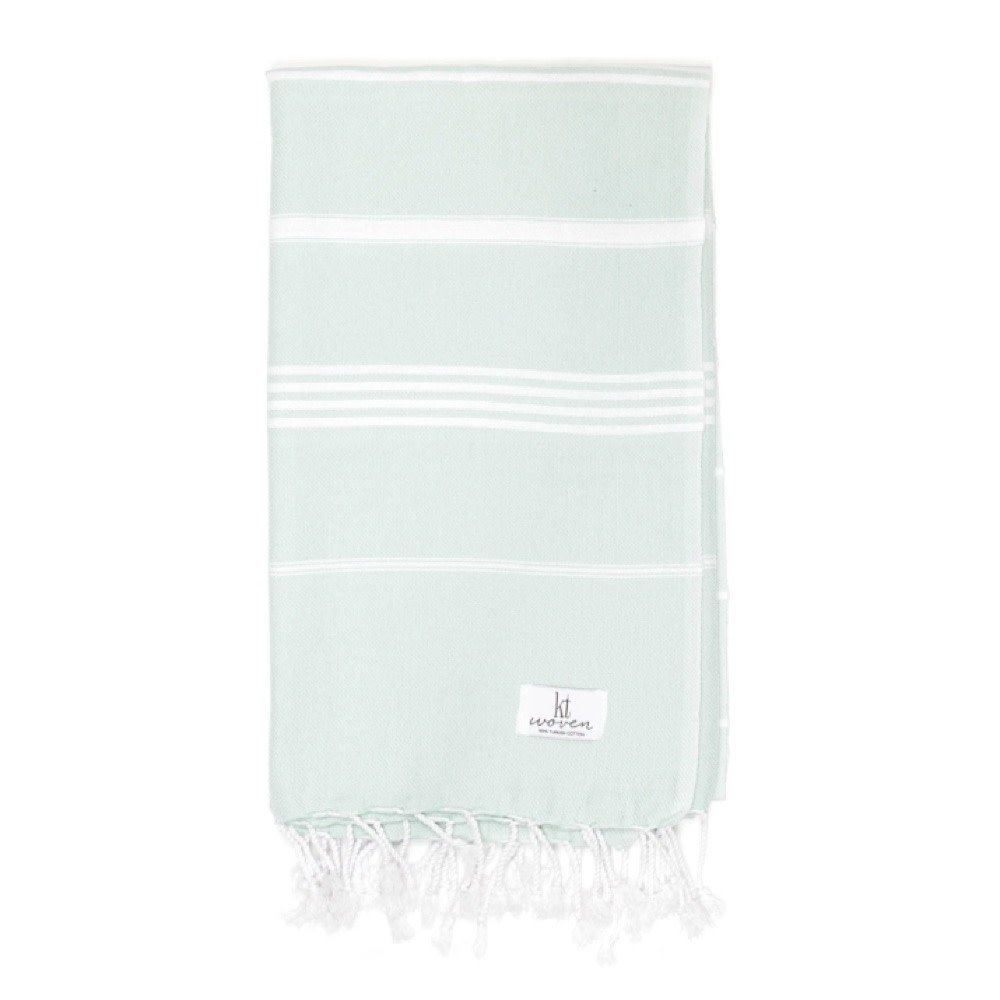 KT Woven - Classic Turkish Towel - Mint