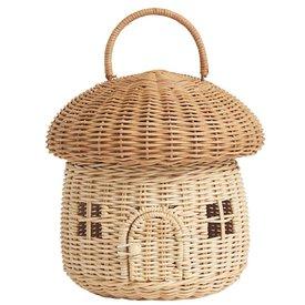 Olli Ella Olli Ella Mushroom Basket - Straw