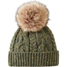 Pendleton Pendleton Lambs Wool Blend Knit Cable Hat - Green