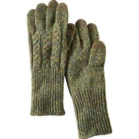 Pendleton Pendleton Lambs Wool Blend Knit Cable Gloves - Green