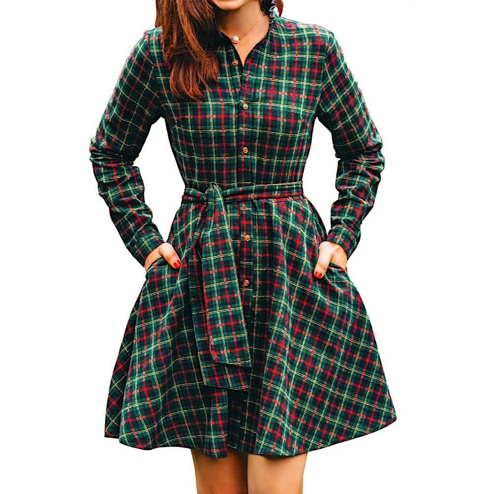 Kiel James Patrick Flannel Dress - Adirondack Pine Point