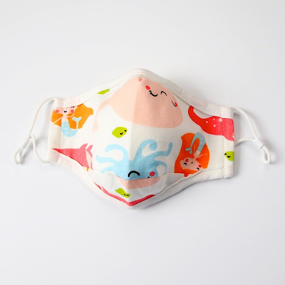 Cheengoo Cheengoo Kids Face Mask - Under The Sea - Small