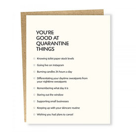 Sapling Press Sapling Press Card - Quarantine Things