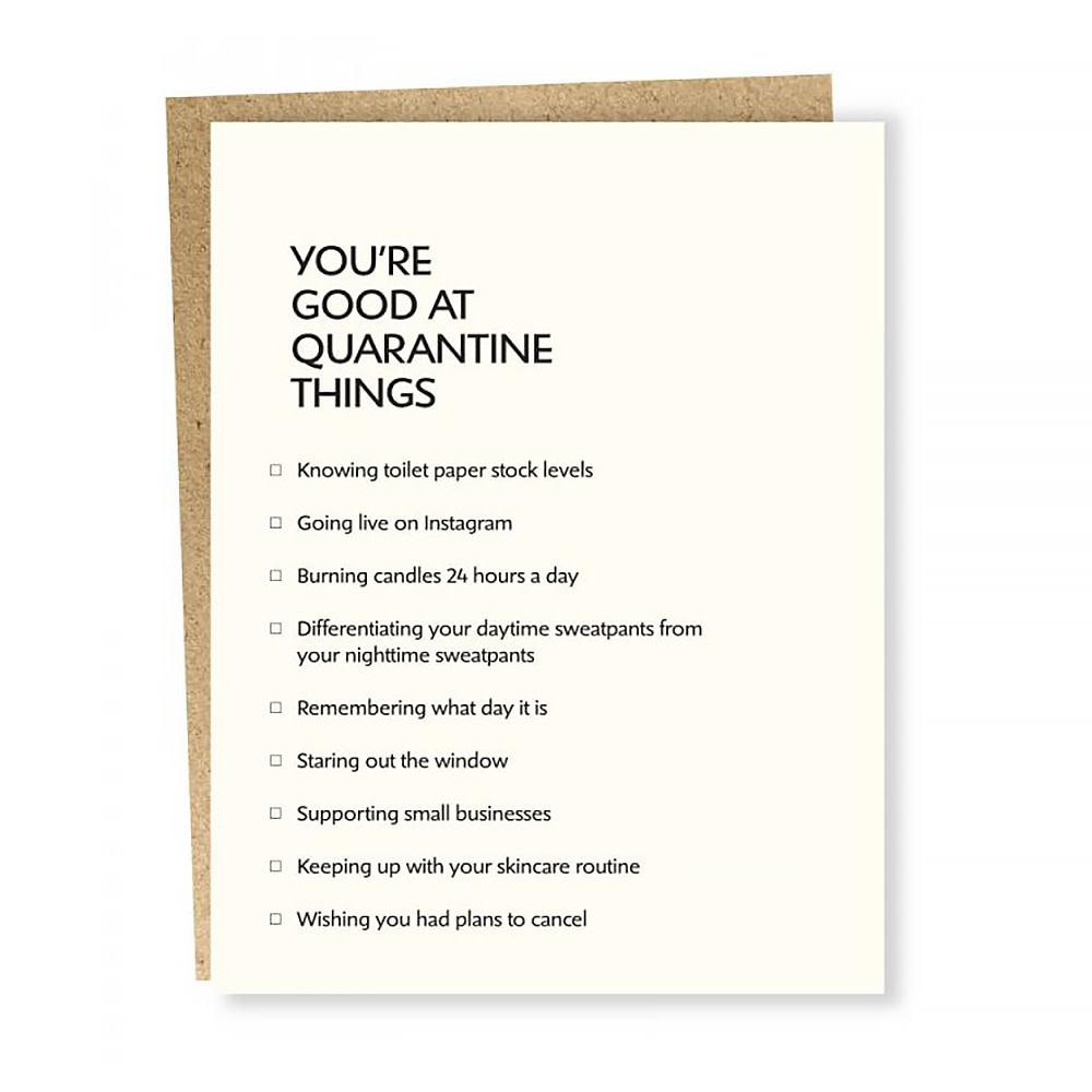 Sapling Press Card - Quarantine Things