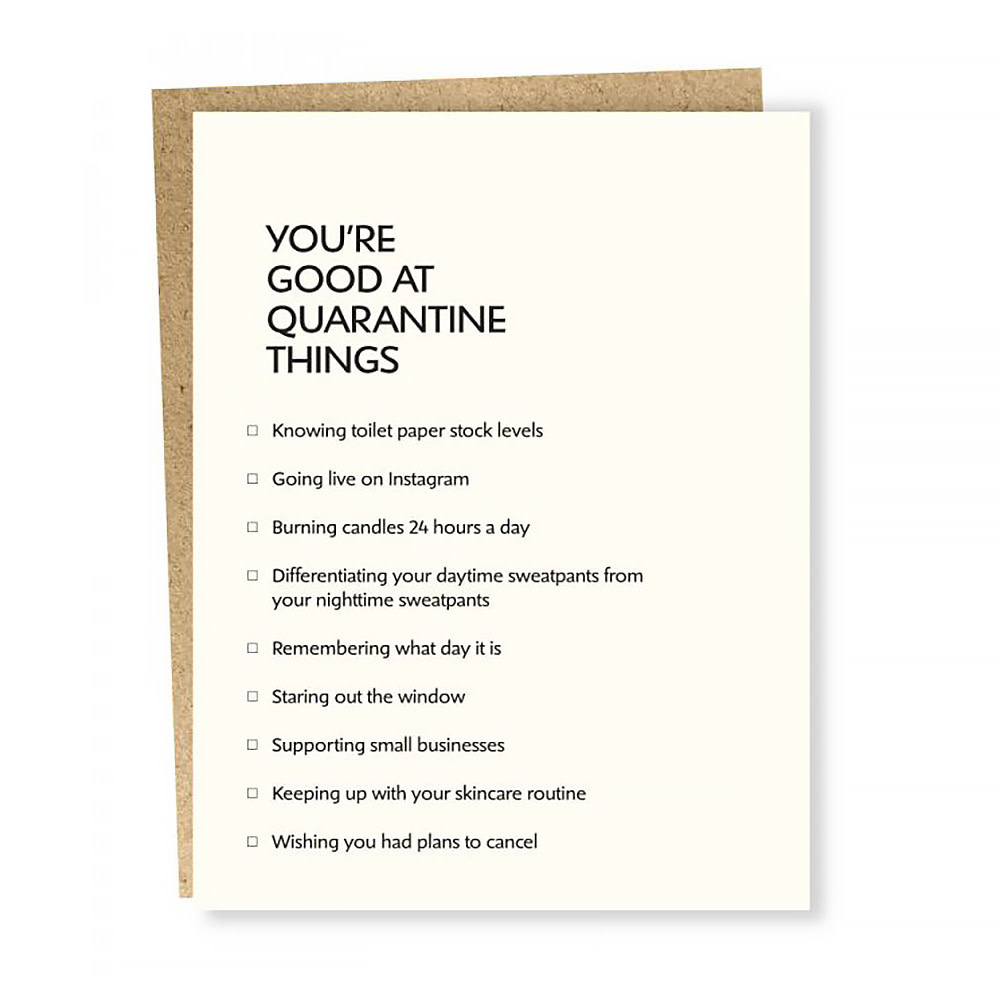 Sapling Press Sapling Press Card - Quarantine Things
