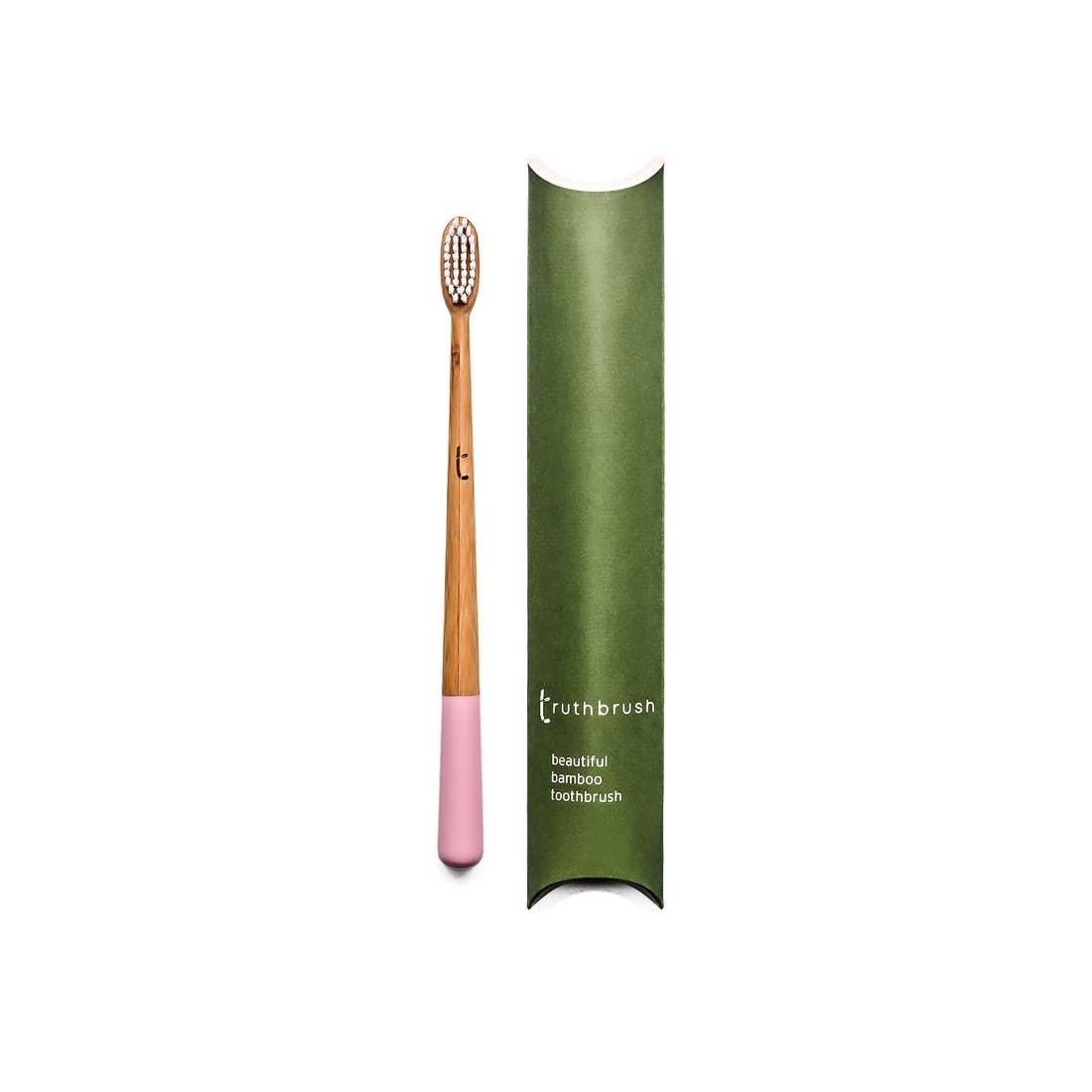 Truthbrush Ltd Bamboo Toothbrush  - Adult Medium Bristle  - Pink