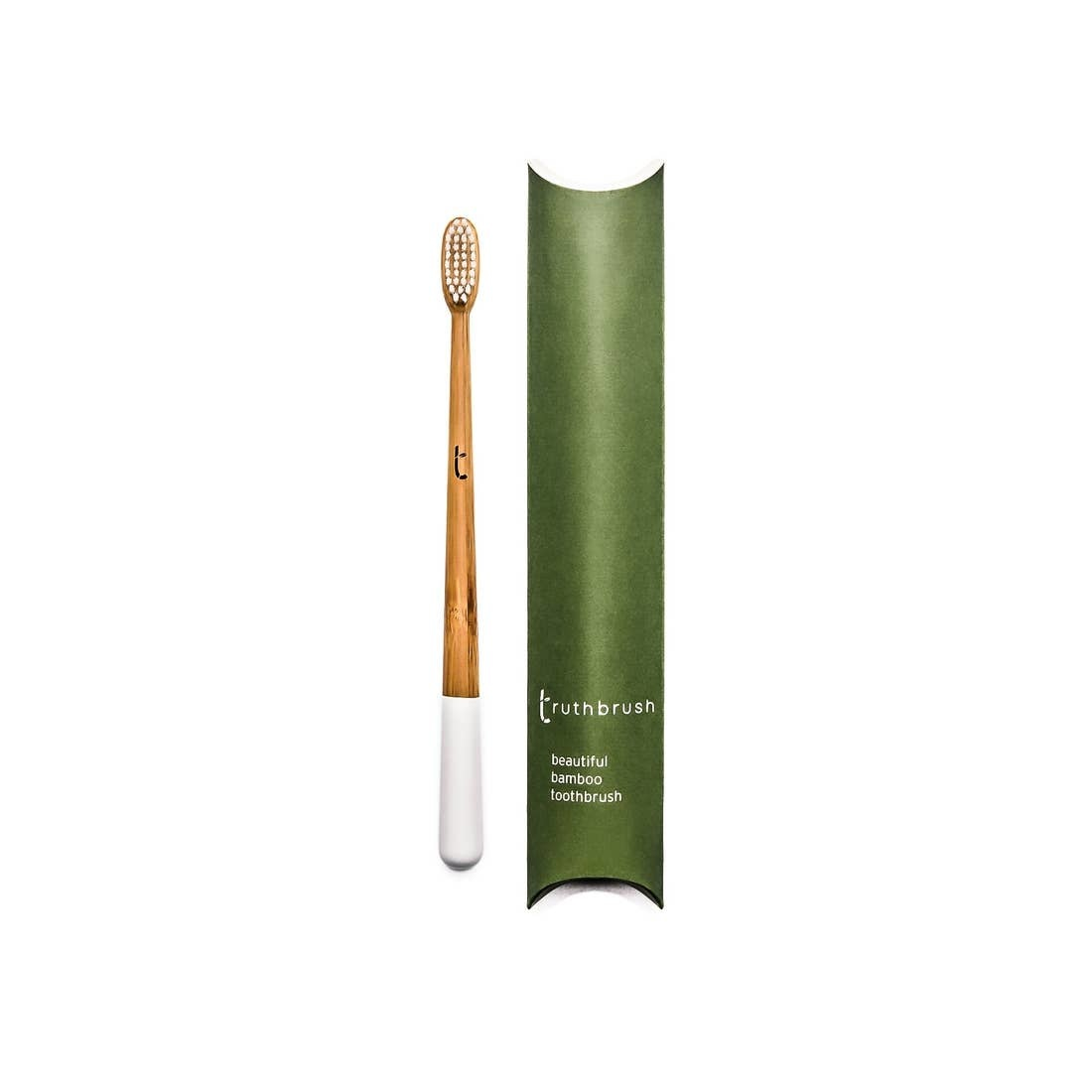Truthbrush Ltd Bamboo Toothbrush  - Adult Medium Bristle  - White