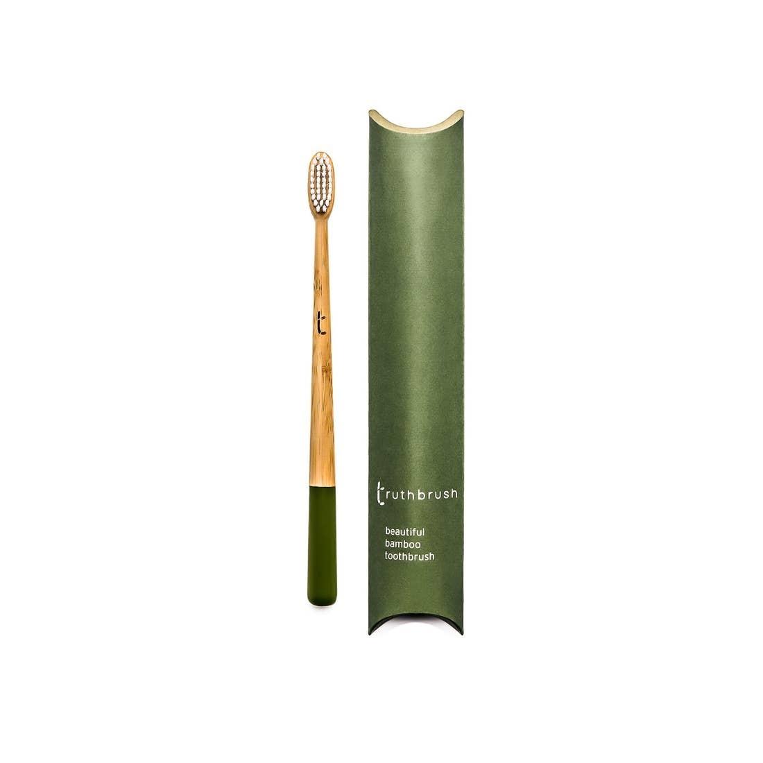 Truthbrush Ltd Bamboo Toothbrush  - Adult Medium Bristle  - Green