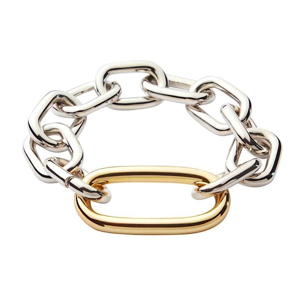 Machete Machete - Interchangeable Oval Link Bracelet - Silver
