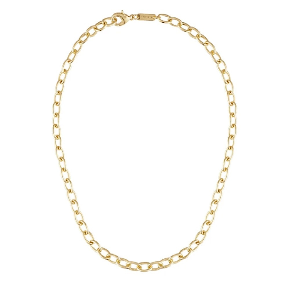 Machete - Oval Link Necklace - Gold - 18 Inch